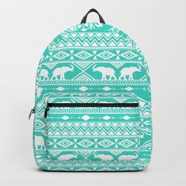 Elephant Tribal Mint Backpack