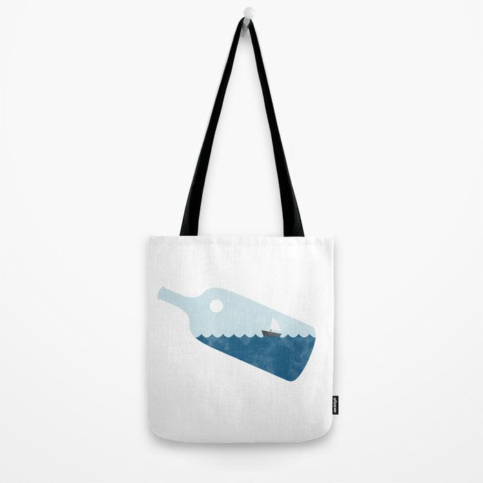 Ship in a bottle Tote Bag