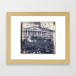 Inauguration of Pesident Abraham Lincoln (March 4, 1861) Framed Art Print