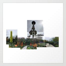 Needle & Chihuly glass Art Print