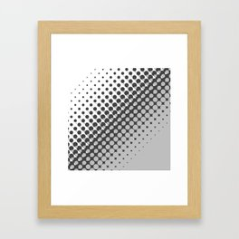 Dark grey and light grey halftone pattern Framed Art Print