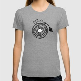 Music lover, hipster, retro vinyl T-shirt
