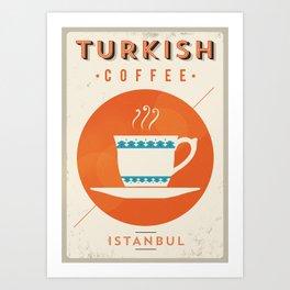 Vintage Turkish Coffee Poster Art Print