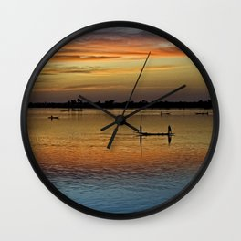 River Niger sunset - Segou, Mali, Africa Wall Clock