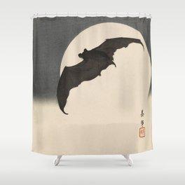 Moonlight Flying Bat Shower Curtain