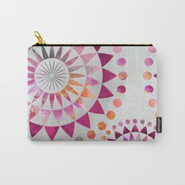 Mandala Pattern in warm shades of orange and pink Carry-All Pouch