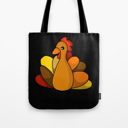 Turk-Tacular Thanksgiving Turkey (Black Background) | Veronica Nagorny  Tote Bag