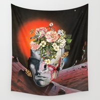 eugenia loli Wall Tapestries featuring Relics by Eugenia Loli