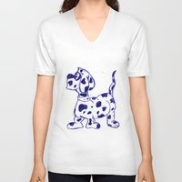 sketch V-neck T-shirts featuring sketch by Shelby Claire
