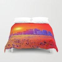 sandman Duvet Covers featuring Downtown Miami   by JT Digital Art