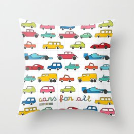 Cars for all Throw Pillow
