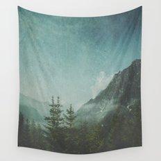 Misty Wilderness - Italian Alps Wall Tapestry