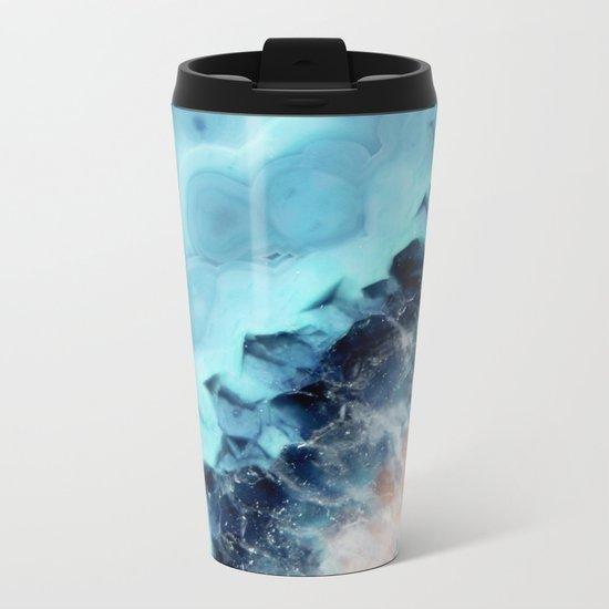 Ocean Agate Metal Travel Mug