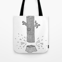 Wood chip Tote Bag
