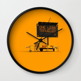 One Less Traveled Wall Clock