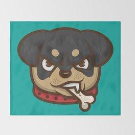 Rottie Pupper Throw Blanket