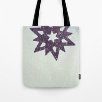 snowflake Tote Bags featuring snowflake by Beverly LeFevre