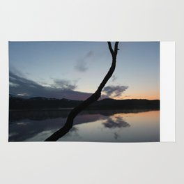 Sunset on lake, Nature Photography, Landscape Photos, sunset photos Rug