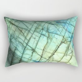 Teal Labradorite Gemstone print Rectangular Pillow