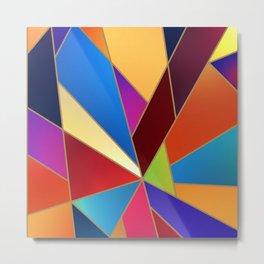Geometric Mid century modern Abstract Geometry Shape Metal Print