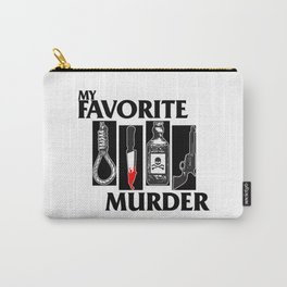 MY FAVORITE MURDER X BLACK FLAG Carry-All Pouch