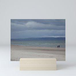 Figures on The Beach at Nairn, Scotland Mini Art Print