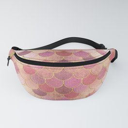 Rose Gold Glitter Mermaid Scales Fanny Pack