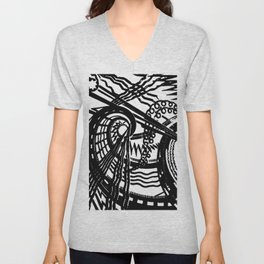 trapped contract Unisex V-Neck