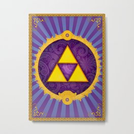 The Divine Triforce Metal Print