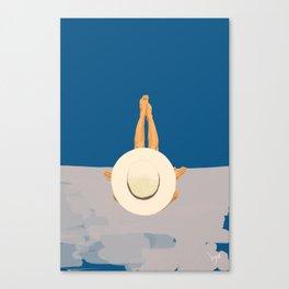 At The Ocean Canvas Print