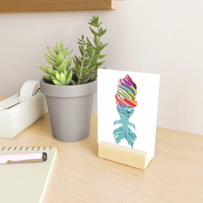Mermaid Ice Cream Mini Art Print