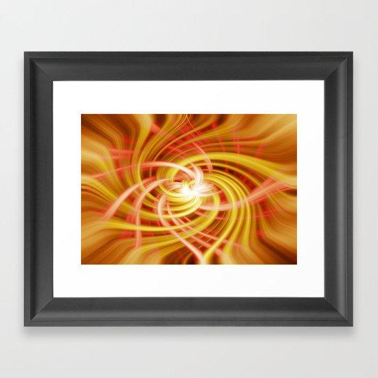 Twirls Framed Art Print
