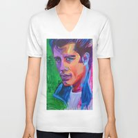 grease V-neck T-shirts featuring Grease by Alejandro Castanon