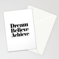 Dream Believe Achieve Stationery Cards