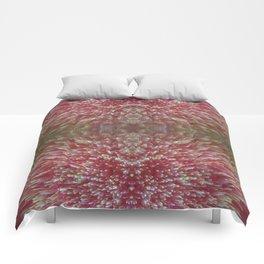 Floral Shimmer Bloom Comforters