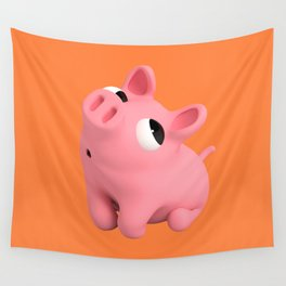 Rosa the Pig Shy Wall Tapestry