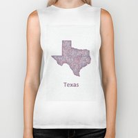 texas Biker Tanks featuring Texas by David Zydd