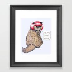 Cat Style Framed Art Print