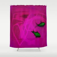 ships Shower Curtains featuring FISH&SHIPS by lucborell