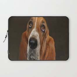 Lost In Thought Basset Hound Dog Laptop Sleeve