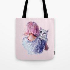 Pink Cuddles Tote Bag