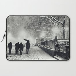 New York City Snow Bryant Park Laptop Sleeve