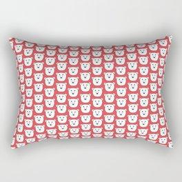 Red Polar Bears Rectangular Pillow