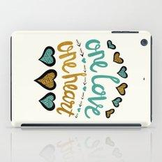 One Love One Heart iPad Case