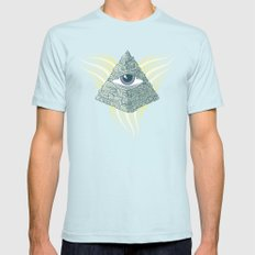 Spiritual resolution Light Blue Mens Fitted Tee SMALL