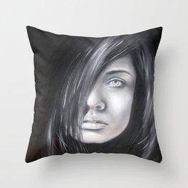 Tajemná žena Throw Pillow