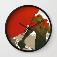 thor Wall Clocks featuring Thor by Pulvis