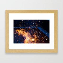 The Beauty Of Fire Framed Art Print