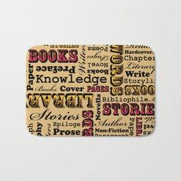 A Book Lover's Medley Bath Mat