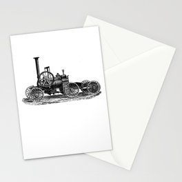 Steam car Stationery Cards